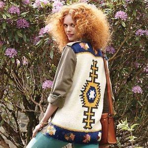 Anthropologie Knit Aztec Army Jacket